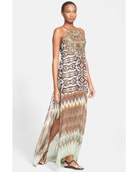 Camilla Crystal Embellished Silk Maxi Dress multicolor - Lyst