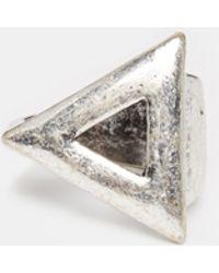 ASOS - Geometric Ring - Lyst
