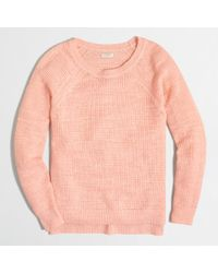 J.Crew Factory Airspun Waffle Beach Sweater - Lyst