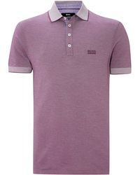 Hugo Boss Contrast Collar Pique Polo Shirt - Lyst