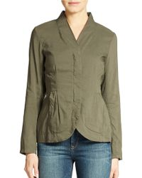 Eileen Fisher Petite Cropped Fitted Jacket - Lyst