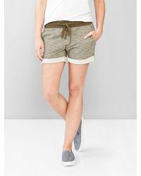 Gap Track Shorts brown - Lyst