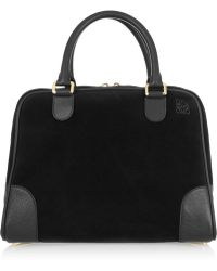 Loewe Amazona 75 Large Suede and Leather Tote - Lyst