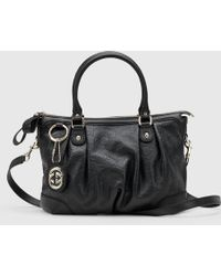 Gucci - Sukey Ssima Leather Top Handle Bag - Lyst
