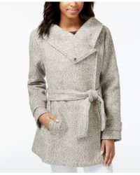 Maison Jules - Belted Asymmetrical-detail Coat, Only At Macy's - Lyst