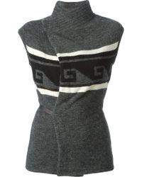 Isabel Marant Gray Knit Cardigan - Lyst