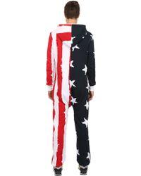 Onepiece Cotton Blend Stars  Stripes Jumpsuit - Lyst