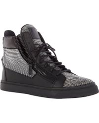 Giuseppe Zanotti Studded High-top Sneakers - Lyst