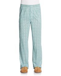 Tommy Bahama Marlin Print Cotton Lounge Pants - Lyst