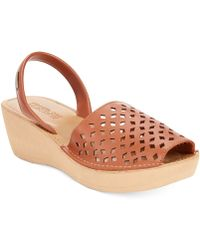 Kenneth Cole Reaction Kenneth Cole Womens Reaction Fine Glass 2 Platform Wedge Sandals - Lyst