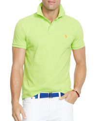 Ralph Lauren Polo Custom Mesh Polo Shirt  Slim Fit - Lyst