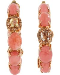Sharon Khazzam - Rhodonite Baby Hoop Earrings - Lyst