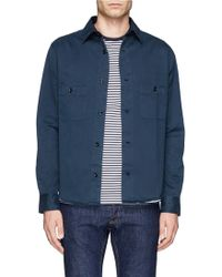 Hardy Amies Cotton Twill Shirt Jacket - Lyst