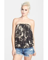 Raga Strapless Smoke Print Tube Top - Lyst