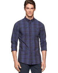 Calvin Klein Ck One Ultra-slim Fit Multi-plaid Shirt - Lyst