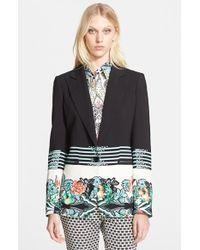 Etro Women'S Floral Print Cady Jacket - Lyst