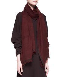 Eskandar - Double Color Weave Cashmere Scarf - Lyst