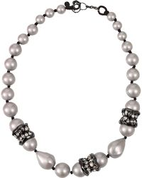Alexis Bittar Single Strand Pearl Necklace - Lyst