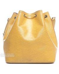 Louis Vuitton Pre-owned Citron Yellow Epi Leather Petite Noe Bag - Lyst