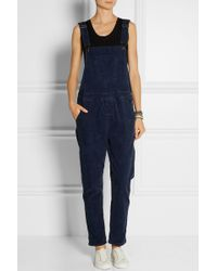 Current/Elliott The Shirley Stretch-corduroy Overalls - Lyst