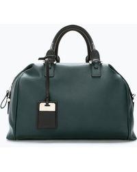 Zara Soft Bowling Bag - Lyst