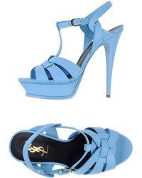 Yves Saint Laurent Rive Gauche Sandals - Lyst