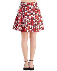 Folter Inc Sweet Your Heart Out Skirt red - Lyst