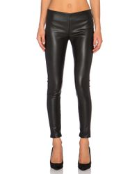 Velvet By Graham & Spencer | Berdine Cropped Faux-Leather Pants | Lyst