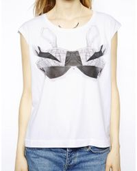 Twenty 8 Twelve Lour Tshirt with Printed Bralet - Lyst