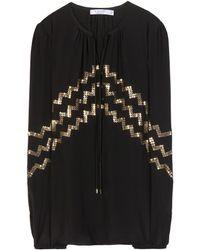 Altuzarra Torrin Embellished Silk Blouse - Lyst