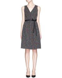 Diane von Furstenberg 'Seduction' Confetti Tweed Sleeveless Wrap Dress black - Lyst