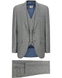 Hackett - Prince Of Wales Over Check Suit - Lyst