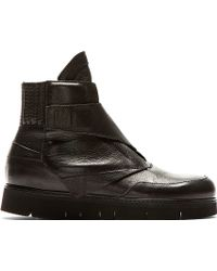 Alexandre Plokhov Black Leather Lap Sneaker - Lyst