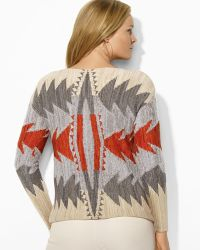 Ralph Lauren Lauren Plus Intarsia Knit Sweater - Lyst