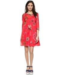 Sonia by Sonia Rykiel Floral Printed Dress - Red - Lyst