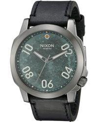 Nixon The Ranger 45 Leather black - Lyst