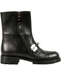 Alexander McQueen Biker Boots black - Lyst