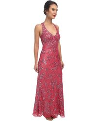 Adrianna Papell Dream Girls Bead Prom Gown - Lyst