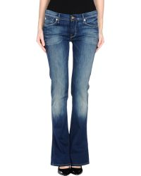 7 For All Mankind Denim Trousers blue - Lyst