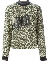 Jean Paul Gaultier - Leopard Print Sweatshirt - Lyst