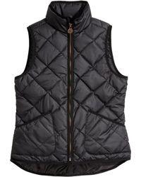 H&M Quilted Bodywarmer black - Lyst
