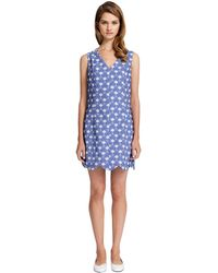 Cynthia Steffe Caroline Geo Floral Print Scalloped Dress - Lyst