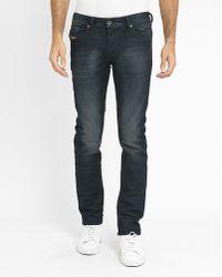 DIESEL   Washed Black Belther Slim-fit Jeans   Lyst