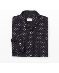 Club Monaco Slimfit Mini Floral Shirt - Lyst