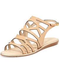 Kate Spade Aster Leather Cut Out Sandal Natural 355b55b - Lyst