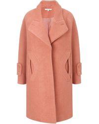 Carven Old Pink Oversized Coat - Lyst