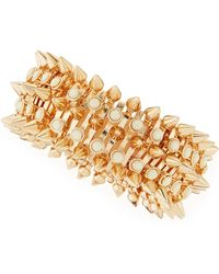 Jules Smith Large Spike & Stones Bracelet - Lyst