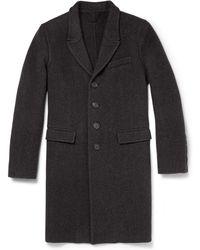Burberry Prorsum Herringbone Wool and Cashmereblend Overcoat - Lyst