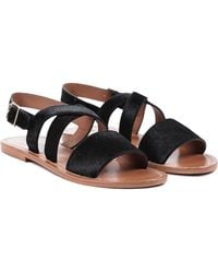 Marni Pony Hair Sandals - Lyst