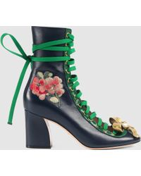 Gucci | Finnlay Leather Ankle Boot | Lyst